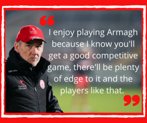Harte hopes for competitive contest against Armagh