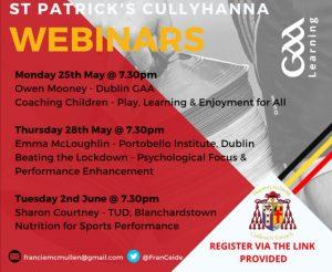 St Patrick's Cullyhanna host Coaching Webinars