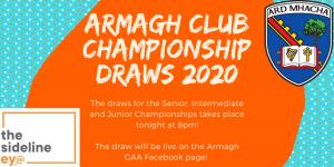 Armagh GAA Club Championship draws take place tonight