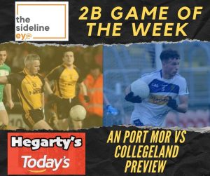 2B Game of the Week – Round One