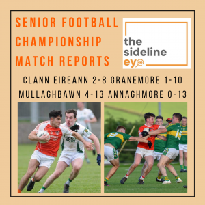 Senior Football Championship Round One Match Reports