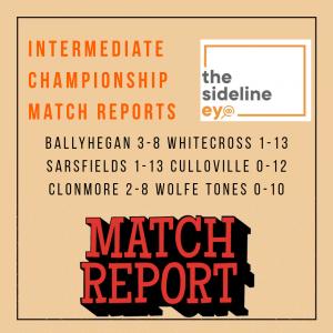 Match Reports- Intermediate Championship Round One