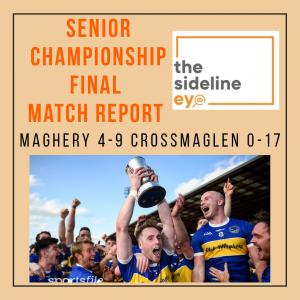 Senior Championship Final Match Report