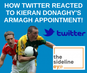 How Twitter reacted to Kieran Donaghy's Armagh appointment!