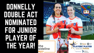 Donnelly Double Act nominated for Junior Player of the Year