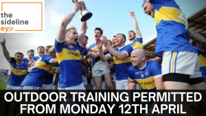 Outdoor training permitted from Monday 12th April
