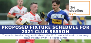 Proposed fixture schedule for 2021 club season