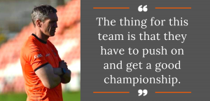 Geezer outlines Armagh's ambitions for Ulster Championship