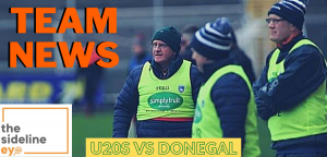 Under 20s name team for Donegal trip