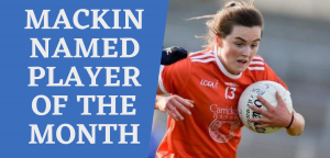 Mackin named Player of the Month